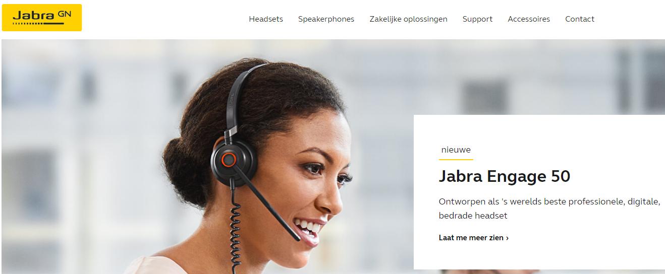Ga naar www.jabra.nl